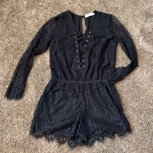 Long Sleeve Lace Romper